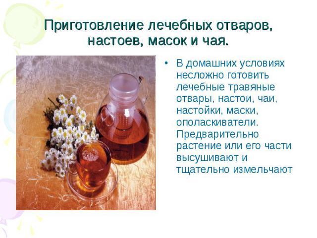 Настойки на травах рецепты в домашних условиях