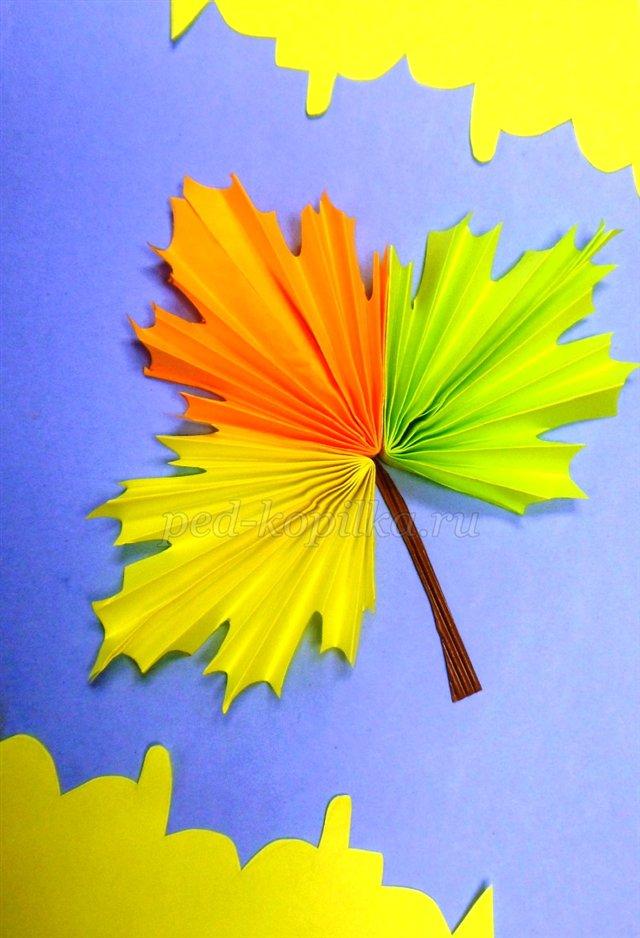 Картинки из кленовых листьев на бумаге для детей - szhivulin.ru