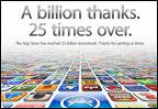 Пользователи iPhone и iPad скачали 25 миллиардов приложений