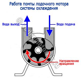 замена крыльчатки помпы на лодочном моторе ямаха 9.9