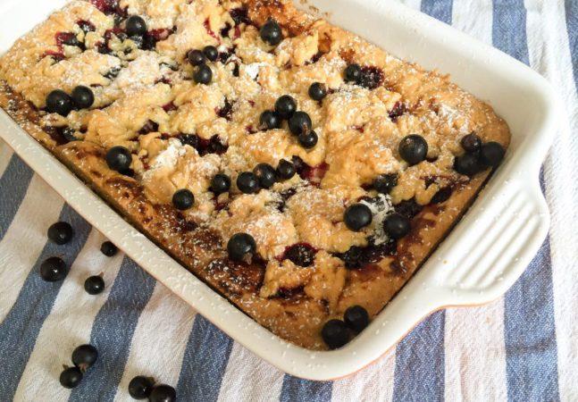 Пирог с замороженной черной смородиной рецепт