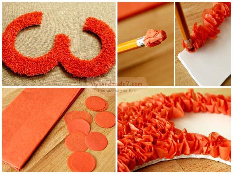 Как сделать объемные буквы из гофрированной бумаги