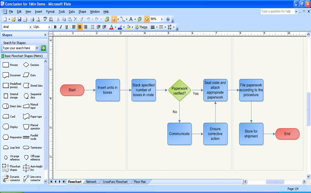 Visio flowchart download