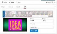 На YouTube обнаружился инструмент для создания гифок