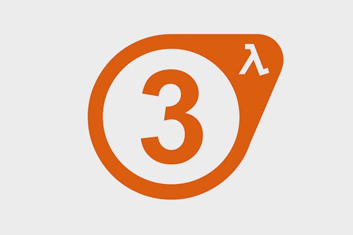 Логотип несуществующей игры Half Life 3 корпорации Valve, которую до сих пор очень ждут фанаты