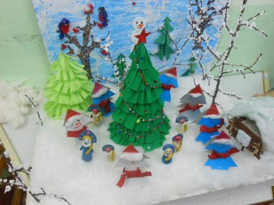 Детские поделки к зиме  фото