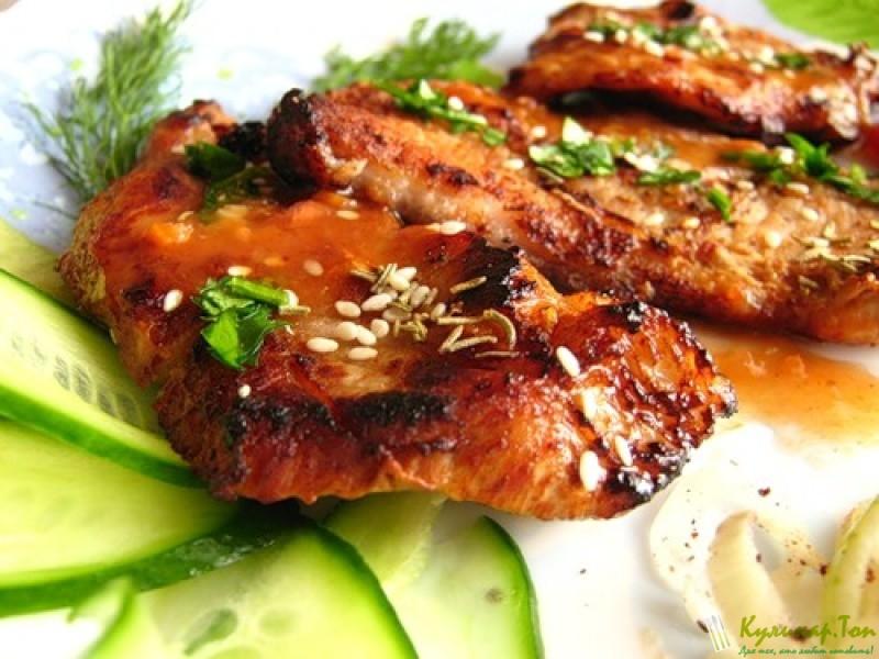 Мясо в горчичном соусе в духовке рецепт с пошагово