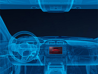 Тизер интерьера Jaguar XE. Иллюстрация Jaguar