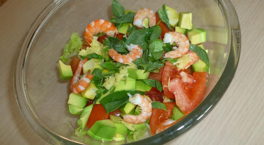 Салат из авокадо рецепт с пошагово в