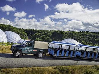 Тестовый электрический Land Rover Defender для Eden Project. Фото Land Rover