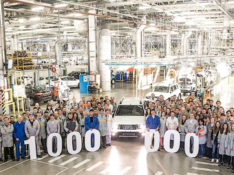 Завод Renault в Москве выпустил 1000000-ый автомобиль