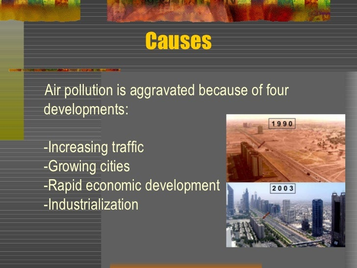 cause effect essay about air pollution