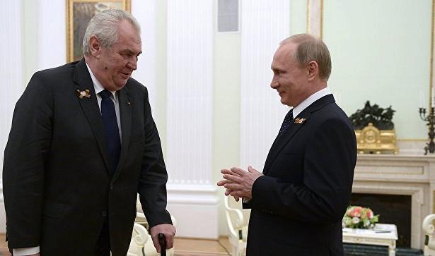 Путин встретится спрезидентом Чехии