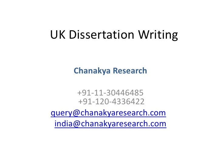 Dissertation proposal for undergraduate