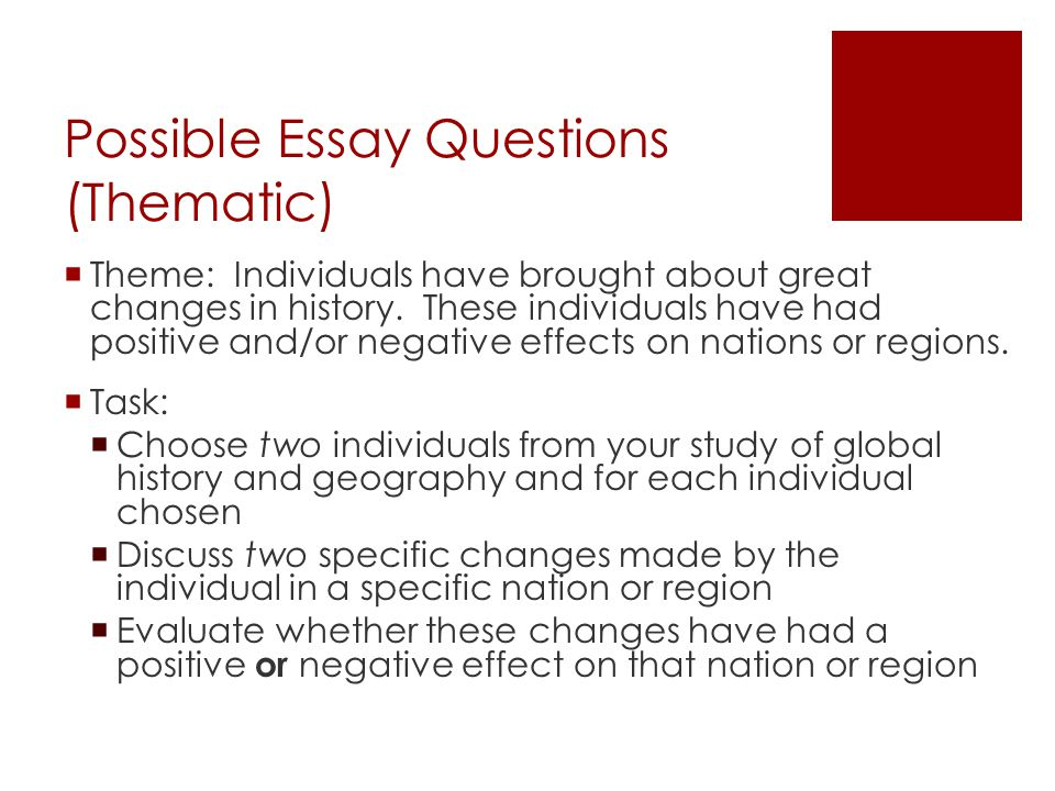 global regents- thematic essay on nationalism Global regents review unit summaries thematic essays chapter summaries powerpoint theme #1 change essay theme #8 nationalism essay.