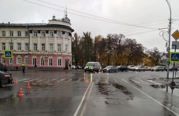 Девятилетнего мальчика сбили назебре вцентре Вологды
