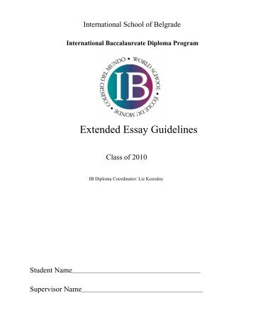 Write my ib economics extended essay structure
