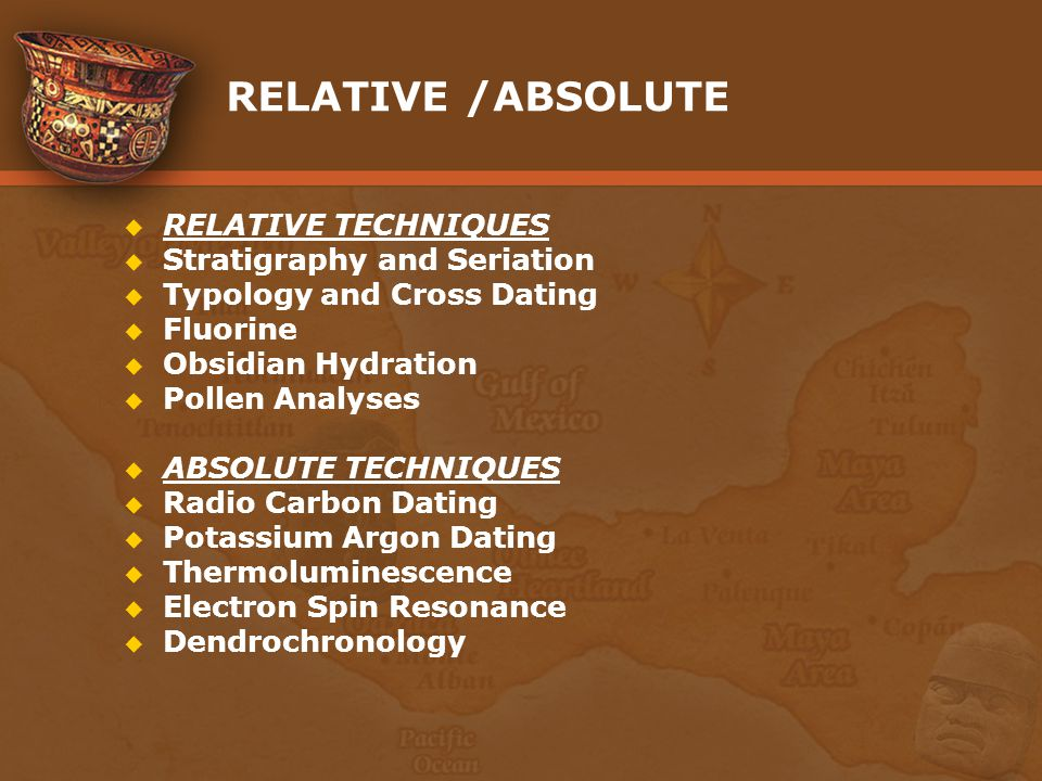 Absolute and relative dating anthropology