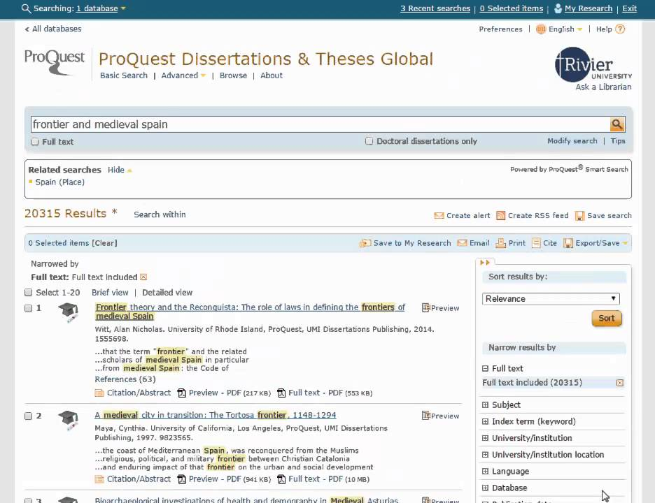 Write my dissertation database proquest