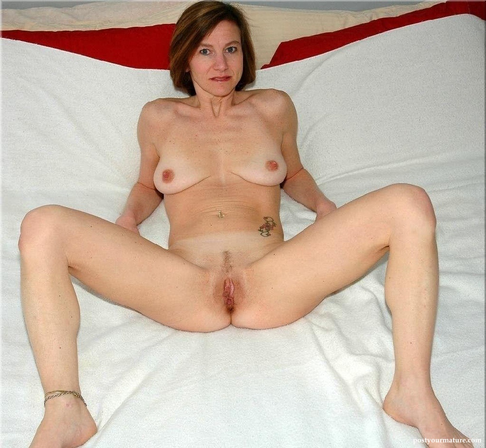 Spread naked legs wife