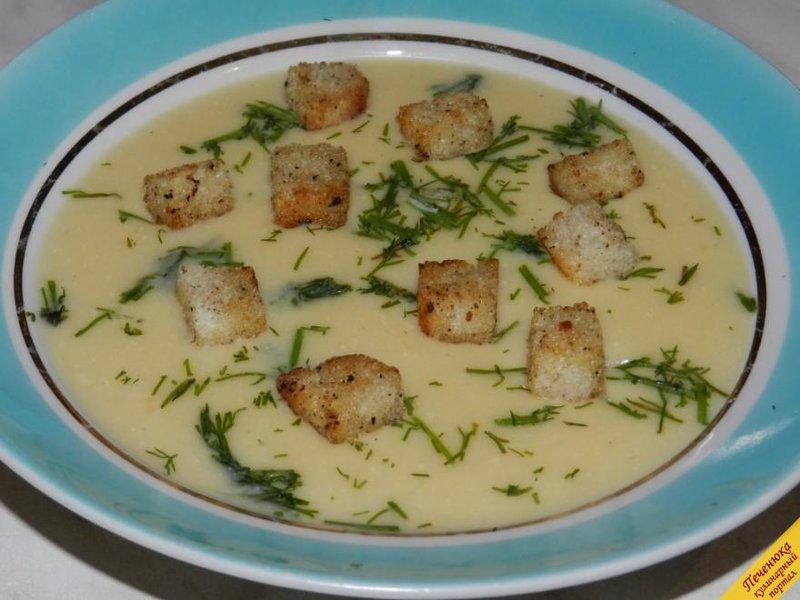 сырный суп пюре пошаговый рецепт фото