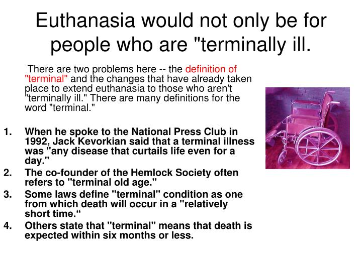 Thesis on euthanasia