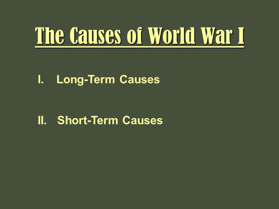 Causes of ww1 essays