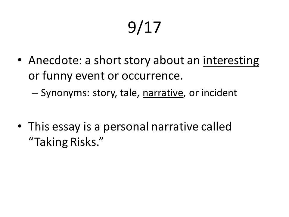 Write my short narrative essay examples