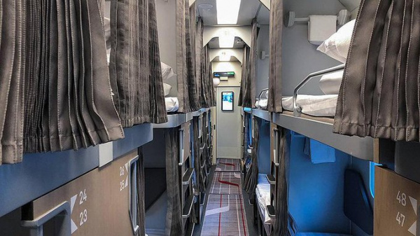 В2021 году впоездах появится новый плацкарт судлиненной полкой