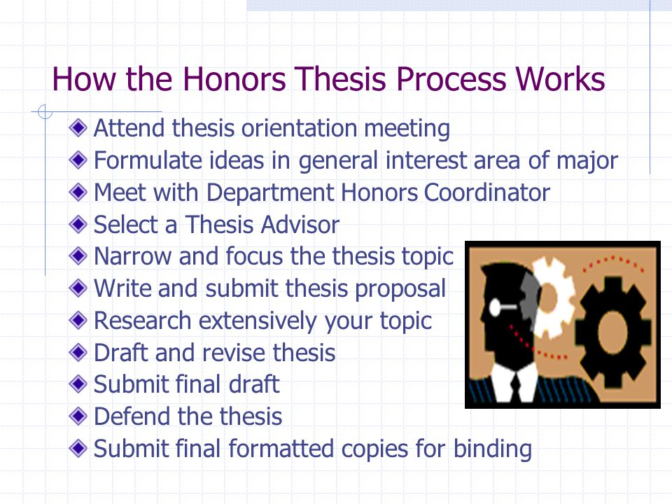 Junior thesis topics