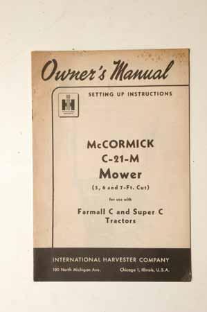 Farmall A - Owner's Manual - N Tractor Club