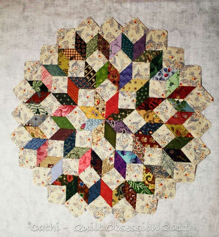 English paper piecing tumbling blocks