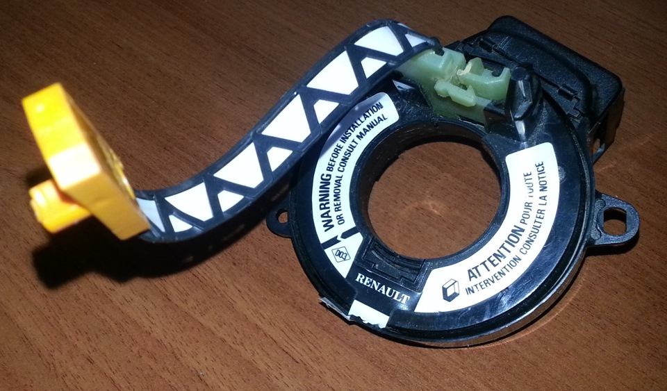 Кольцо контактное подушки безопасности рено логан