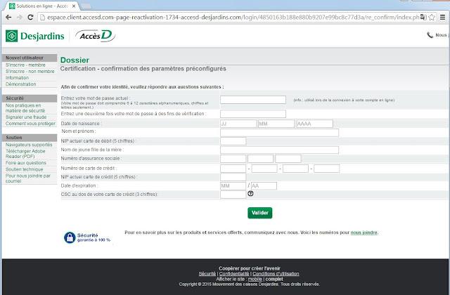 Desjardins business model verification online