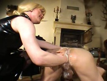 Georgous blonde having sex