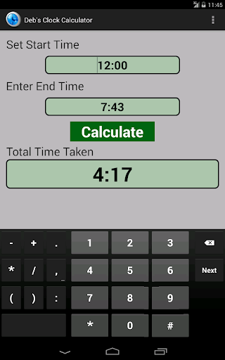 Time Sheet Calculator - MiracleSalad