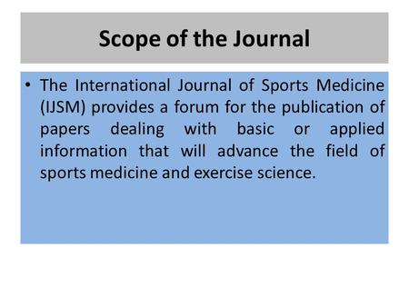 Write my sports medicine research paper