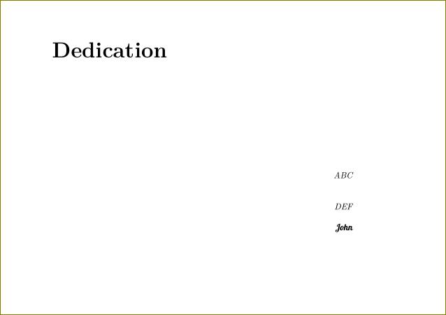 Write my dedication sample thesis