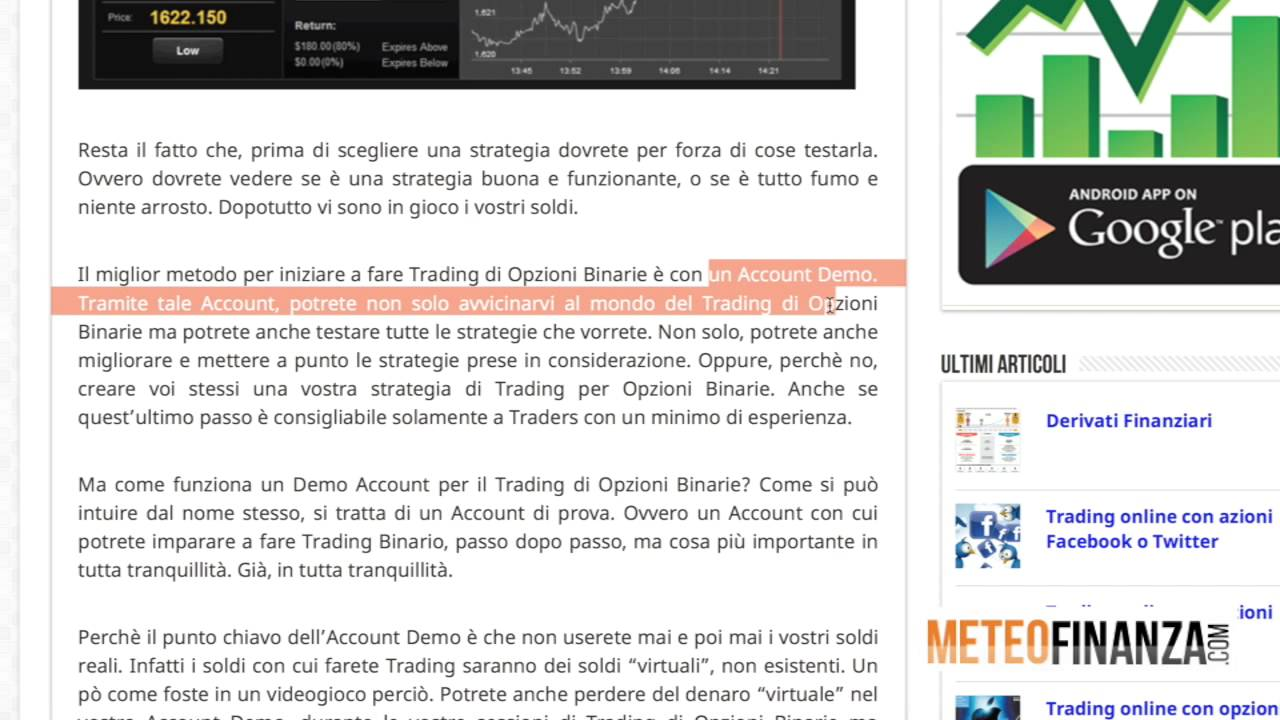 cosa e un trading binario