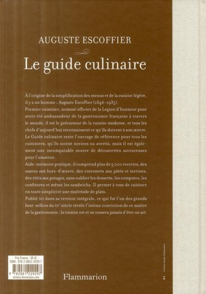 Le Guide Culinaire De Auguste Escoffier PDF Download
