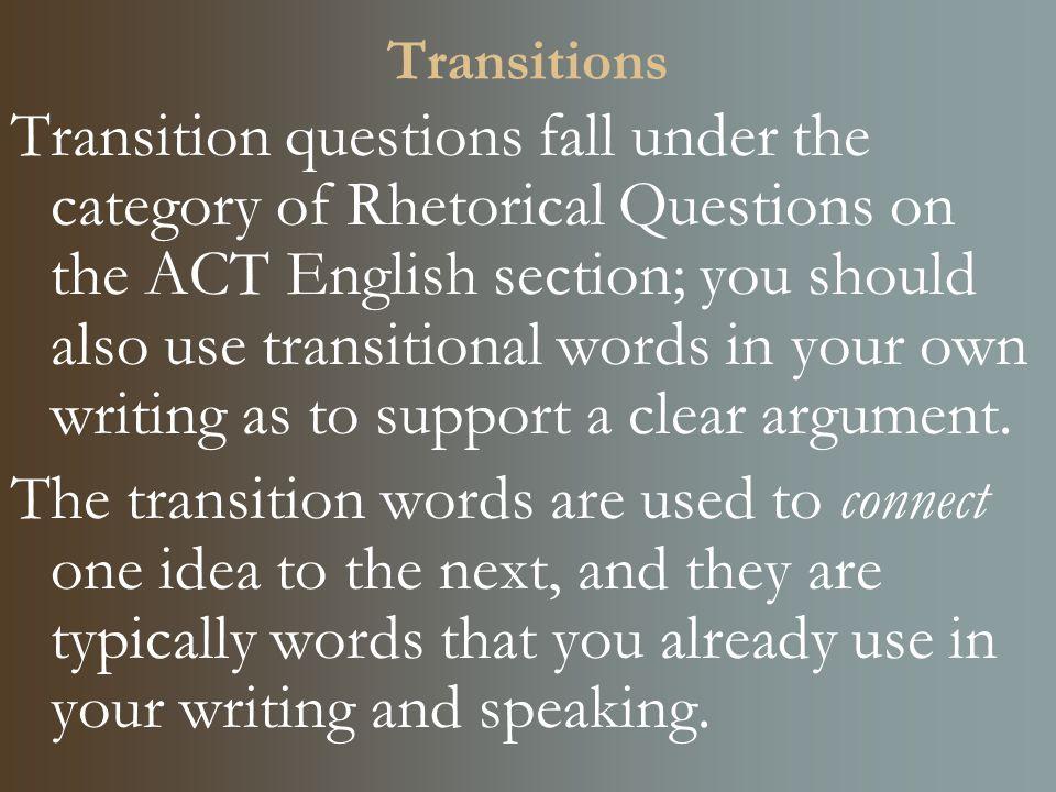 Transition Words - Wichita State University