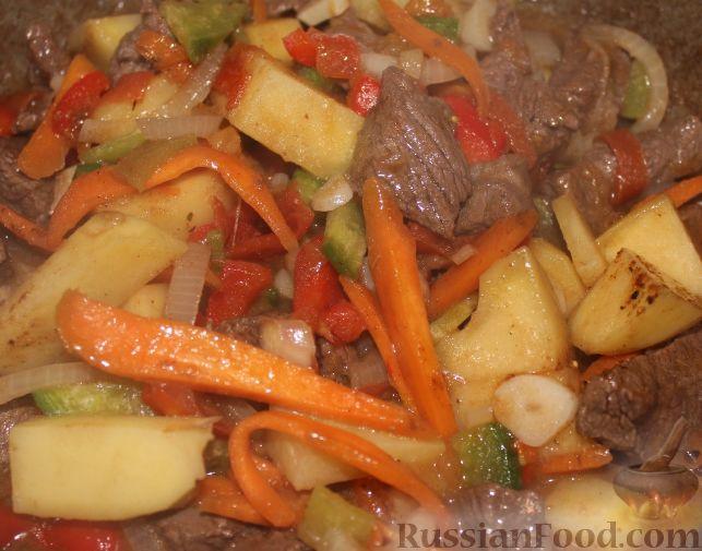 Лагман из говядины рецепт с фото пошагово