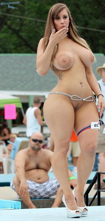 Nude ebony model named chance