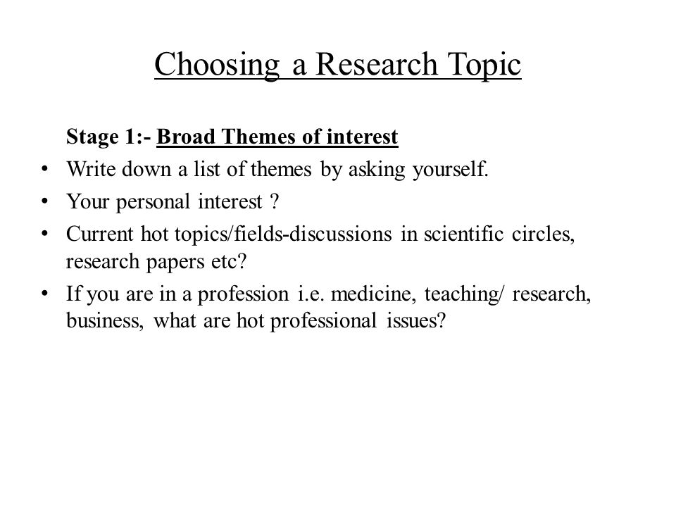 A Comprehensive List of Psychology Research Paper Topics