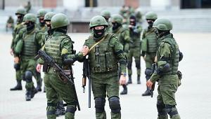 Вцентр Минска выдвинулась спецтехника