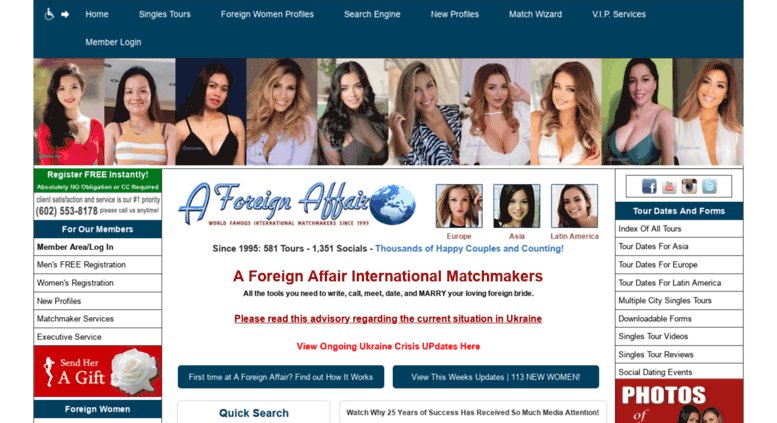 Affair dating service