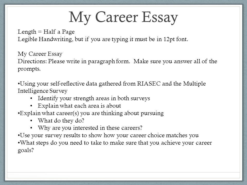 Career Essay Example Essay On Career Goals  Essayglobenet