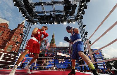 Около 20тысяч человек отметили День российского бокса наМанежной площади