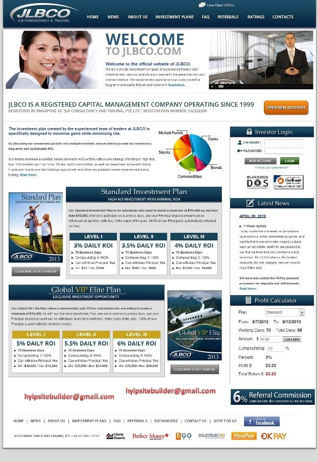 Hyip monitoring sites designs