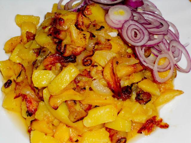 жареная картошка на сале рецепт с фото